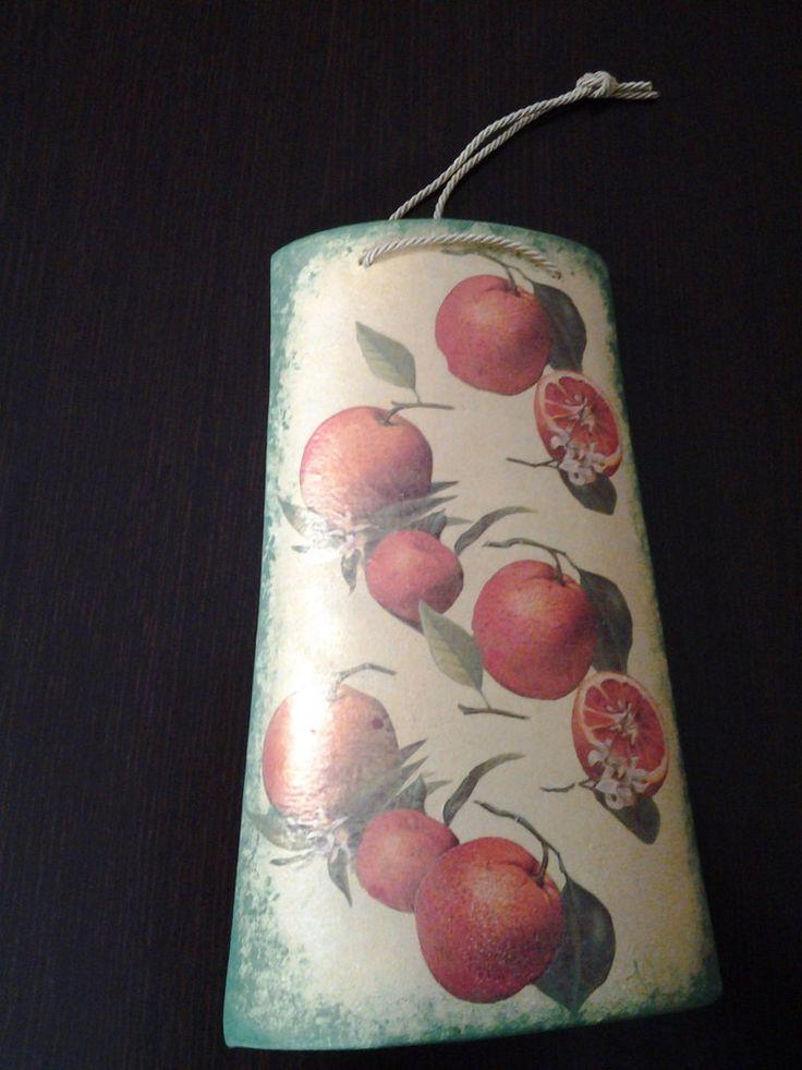 *Tegola in ceramica per cucina, decorazione arance* By Vale Decò