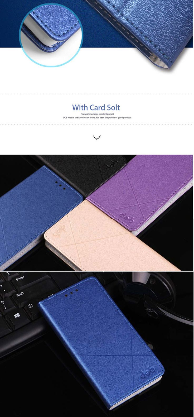 DOB Flip Stand Card Slot PU Leather Protective Case For LeTV Leeco Le S3