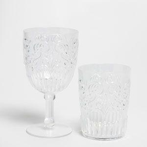 Zara Home - Glas og vinglas med relief i akryl