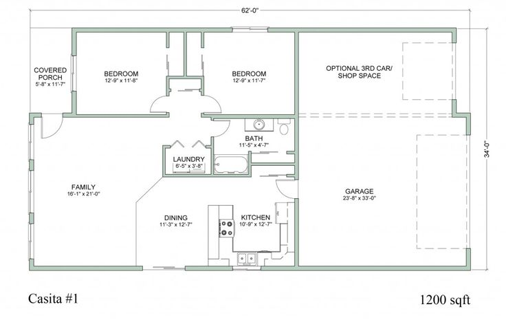Casita Building Plans Floor Plans Houses Pinterest