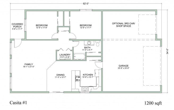 Casita Building Plans Floor Plans Houses Pinterest