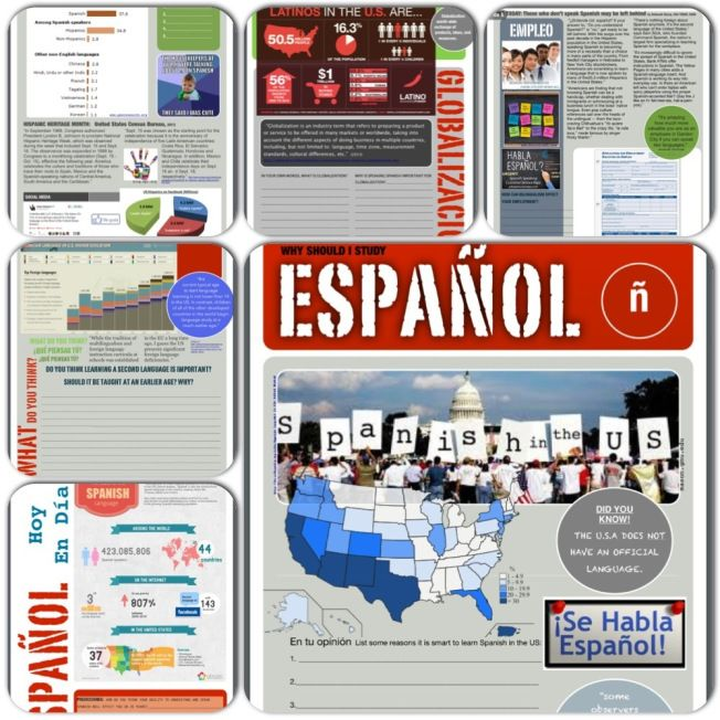 why study spanish 6 page packet. Great for emergency sub plans too! -also on…