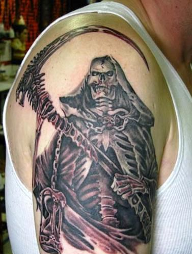 83 best images about grim reaper tattoos on pinterest reaper tattoo fishing tattoos and skulls. Black Bedroom Furniture Sets. Home Design Ideas