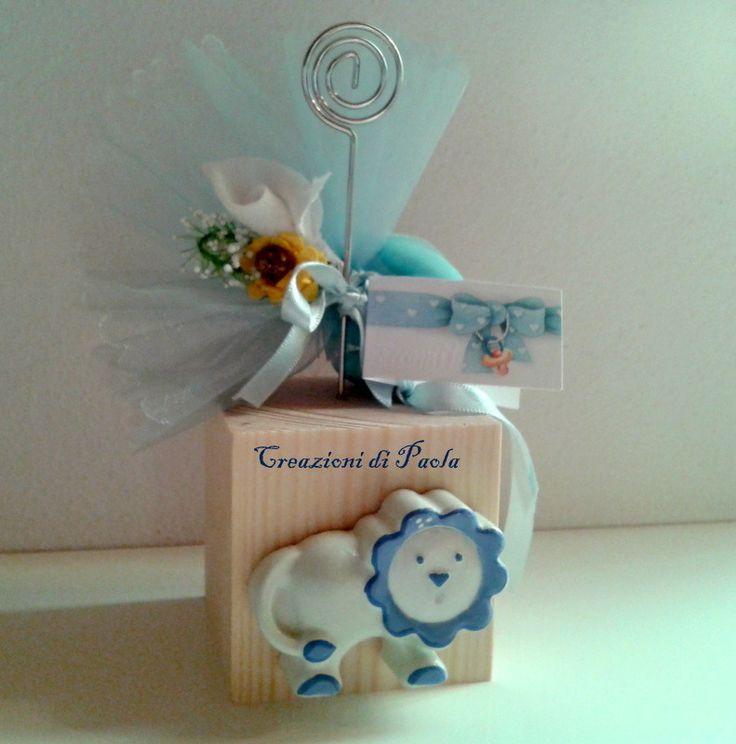Bomboniera portafoto con gessetto a forma di animaletto : Altro bebè di creazioni-di-paola