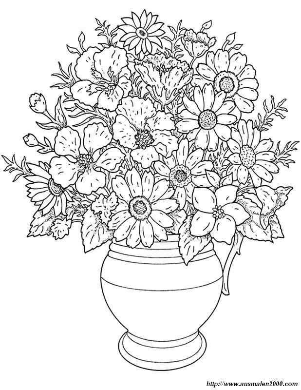 Disegni da colorare: Fiori stampabile, gratuito, per