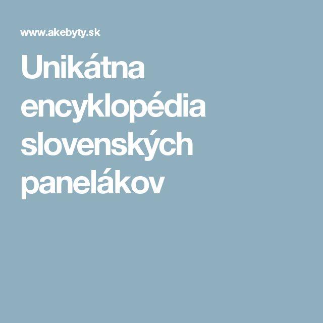 Unikátna encyklopédia slovenských panelákov