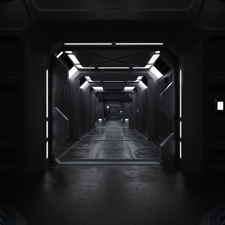 Sci Fi Interior 3D Model  More renders and 360° turntables can be found here
