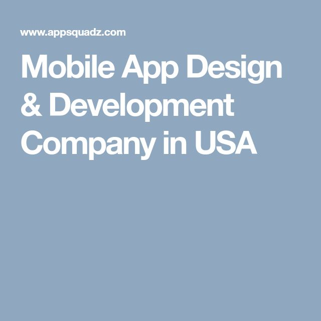 Mobile App Design & Development Company in USA