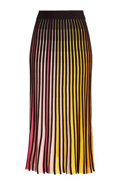 KENZO - A rainbow of colours informs this cotton-infused skirt from Kenzo, breathing uplifting edge and contemporary character into the modest length. The hip-hugging fit flatters with ease   STYLEBOP