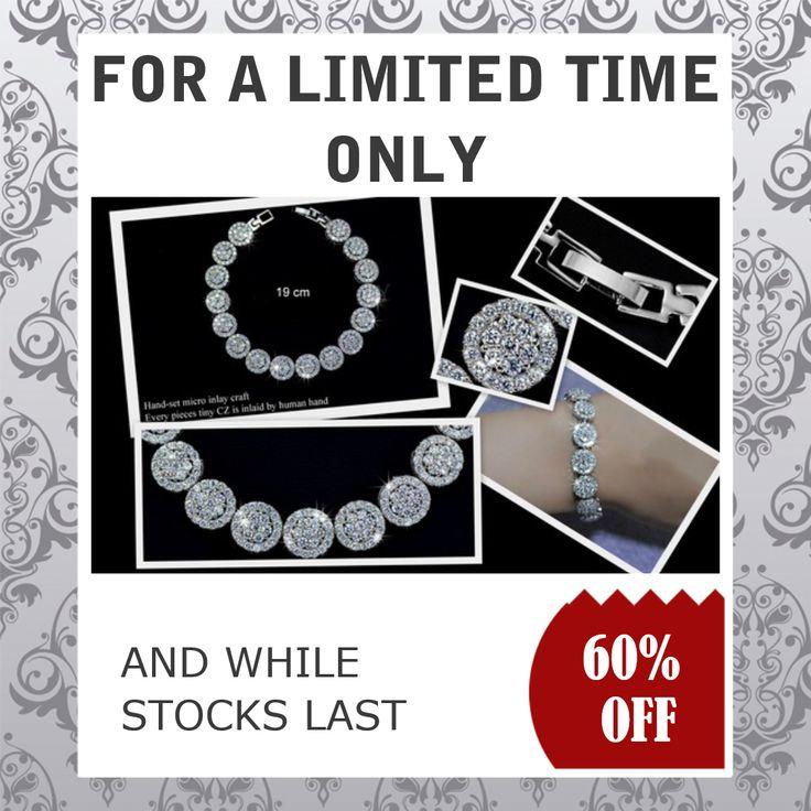 What a Stunner - Hand Set Micro Inlay Craft AAA+ Swiss CZ   #bracelet #fashionaccessory #jewelry #bridal #necklaces #wedding #jewellery #disney #fashionjewellery #earrings     https://goo.gl/ux3GUr