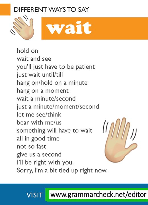 """Different ways to say """"wait!"""""""