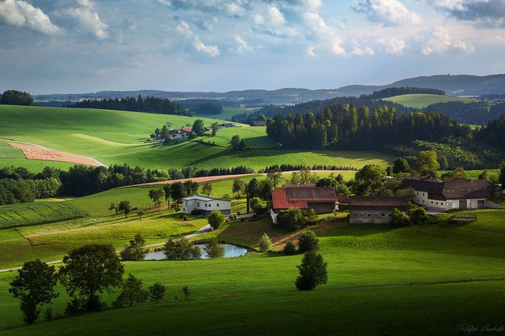"""Austria hills   As last year, i spent some days in austria near the german border. Only a few kilometers after Passau, the landscape changes into this beautiful hill scenerys. It´s called """"Mühlviertel""""."""