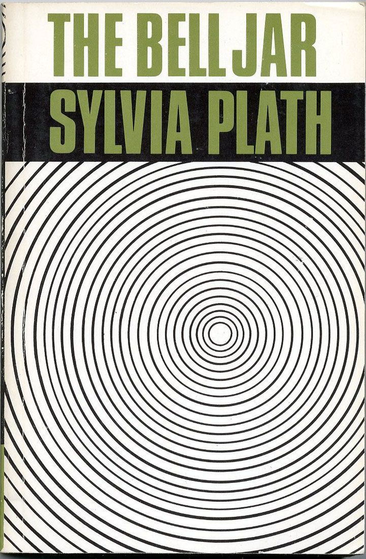 """The Bell Jar"" by Sylvia Plath : http://freakinsweetbookcovers.tumblr.com/post/50313639848/the-bell-jar-sylvia-plath 