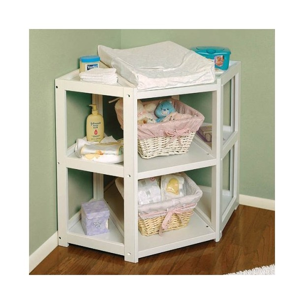 corner changing tableFuture Baby, Corner Change Tables, Badger Baskets, White Diapers, Diapers Corner, Changing Tables, Nurseries Furniture, Baby Stuff, Baby Nurseries