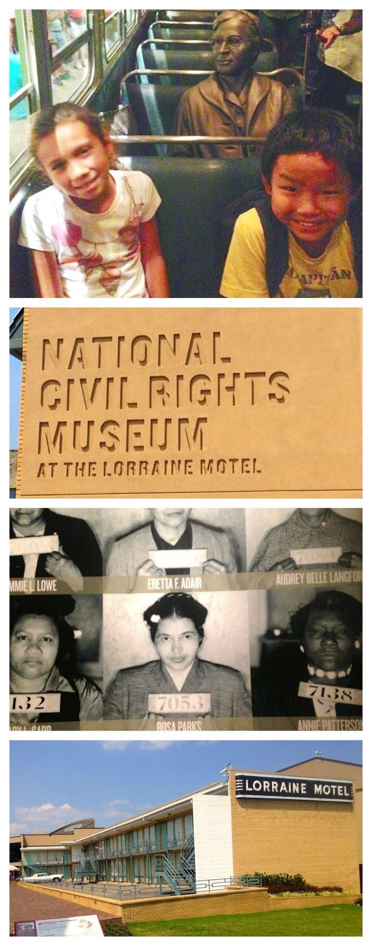 National Civil Rights Museum in Memphis, TN, USA: an interactive museum to learn about Martin Luther King and the Civil Rights movement.