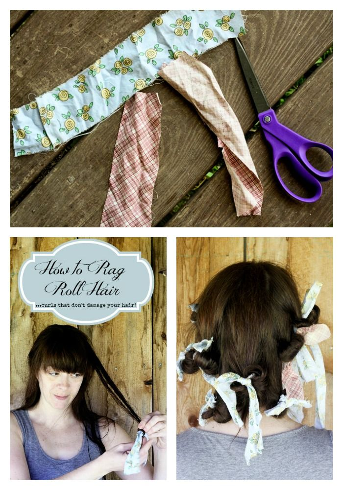 Rag Rolling: How to get natural looking curls without special equipment or damaging your hair on www.foodiewithfamily.com