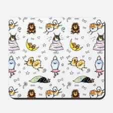 Pomeranian Pattern Mousepad for