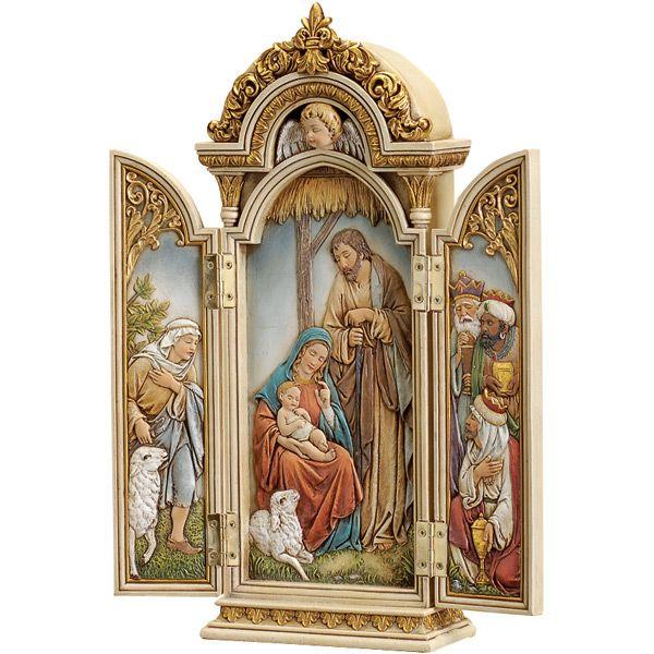 triptych NATIVITY | Nativity Triptych - Small Altarpiece-Leaflet Missal