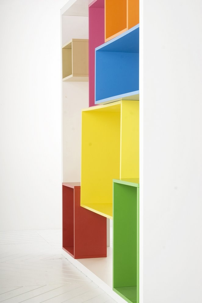 Colorful design bookshelf
