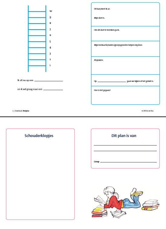 Schrijf samen met de leerling een kindplan naar aanleiding van het kindgesprek. Samen met het kind stel je een leerdoel op. Gebruik voor het stellen van de juiste vragen en het maken van een plan de Wijzer in Onderwijsbehoeften van ZIEN in de klas.