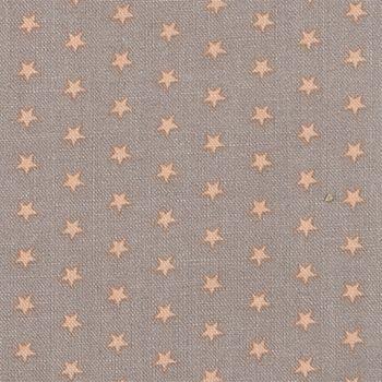 852187 Baumwolle, Grau mit melon Sternen