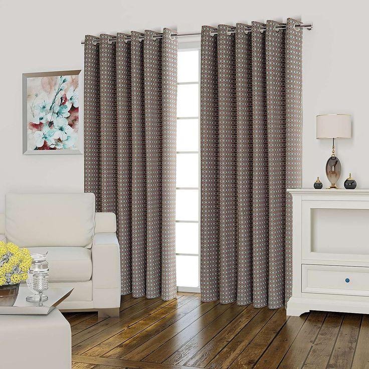 Athena Orange Lined Eyelet Curtains | Dunelm