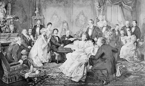 Franz von Bayros - Ein Abend bei Johann Strauß