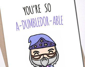 Dumbledor pun gift card