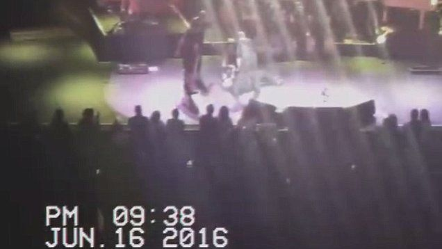 Meatloaf collapses on stage during a concert in Edmonton, Canada.