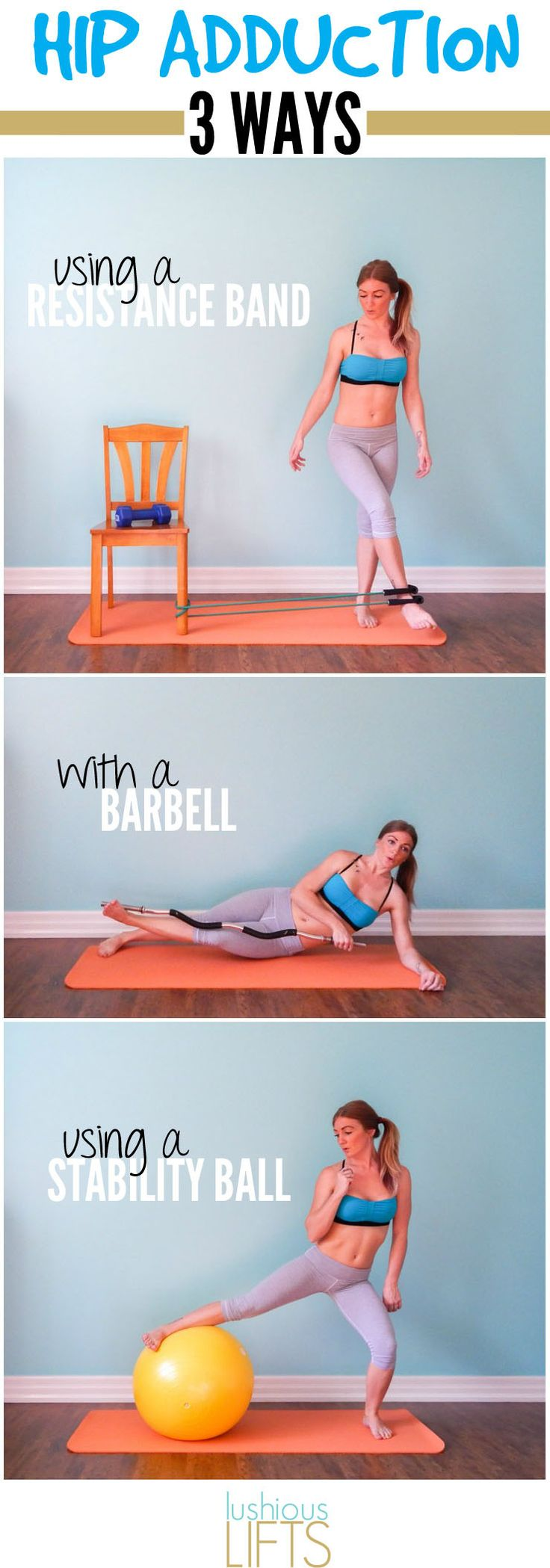 3 Ways to use the Hip Adductoin to Tighten and Tone your Inner Thighs || lushiouslifts.com