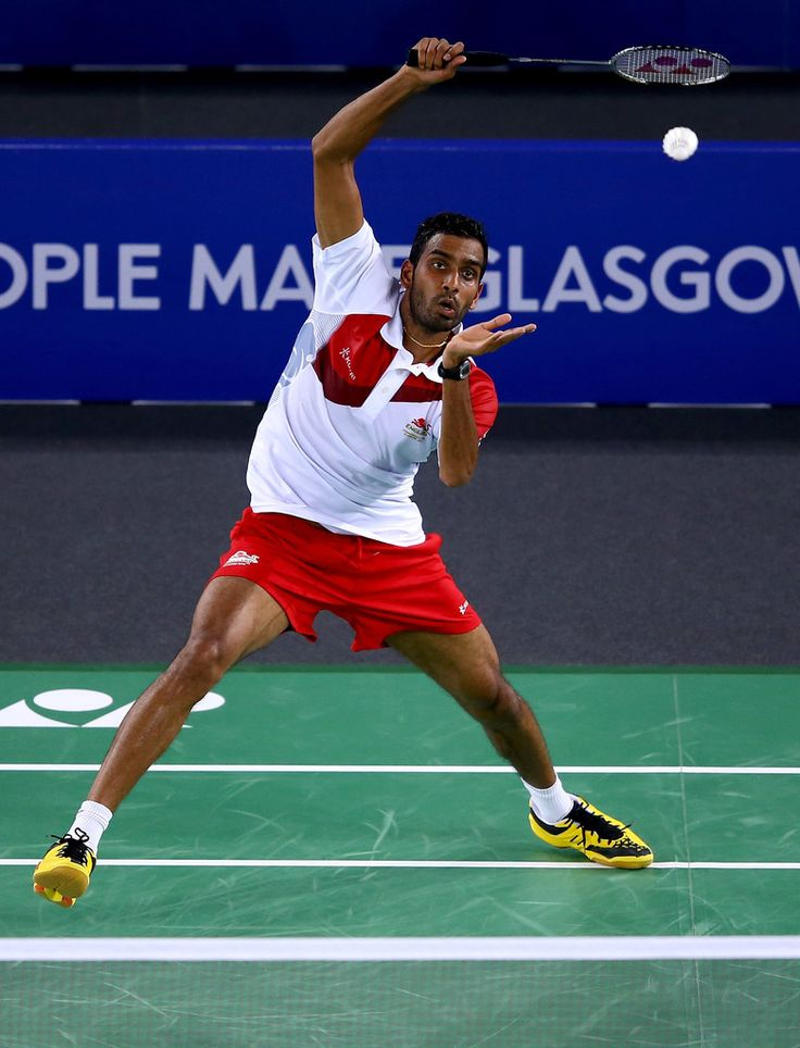 Rajiv Ouseph of England. 20th Commonwealth Games: Badminton