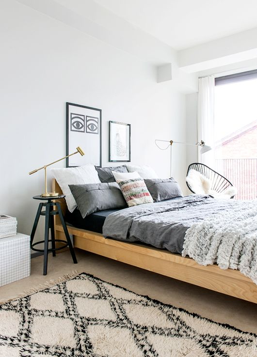 Love this look! If you are looking for solid wood beds and a range of bedding try: http://www.naturalbedcompany.co.uk/