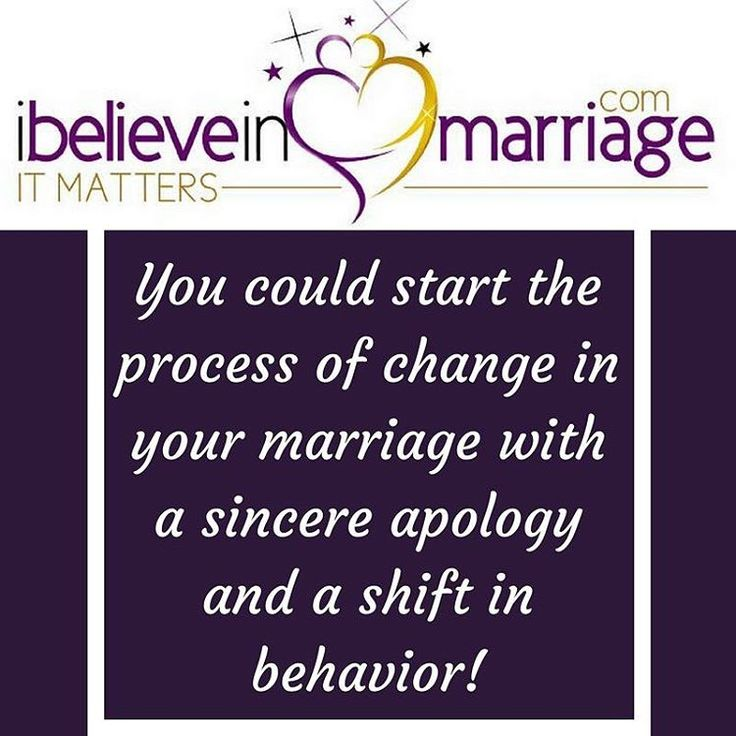 You can start the process of change with a sincere apology but you gotta add the shift in behavior! It doesn't fix itself automatically,, but you can start the process! Try it!