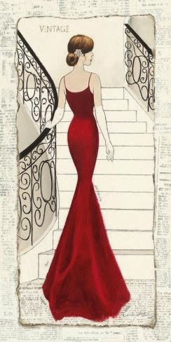 Vintage Illustrationahşap Boyama 58 Kadin Desenli Dekupaj