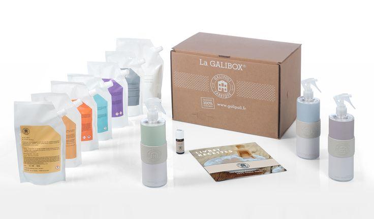 Découvrez la Galibox ! Galipoli Fabrique, le 1er kit de produits d'entretien 100% faits maison.