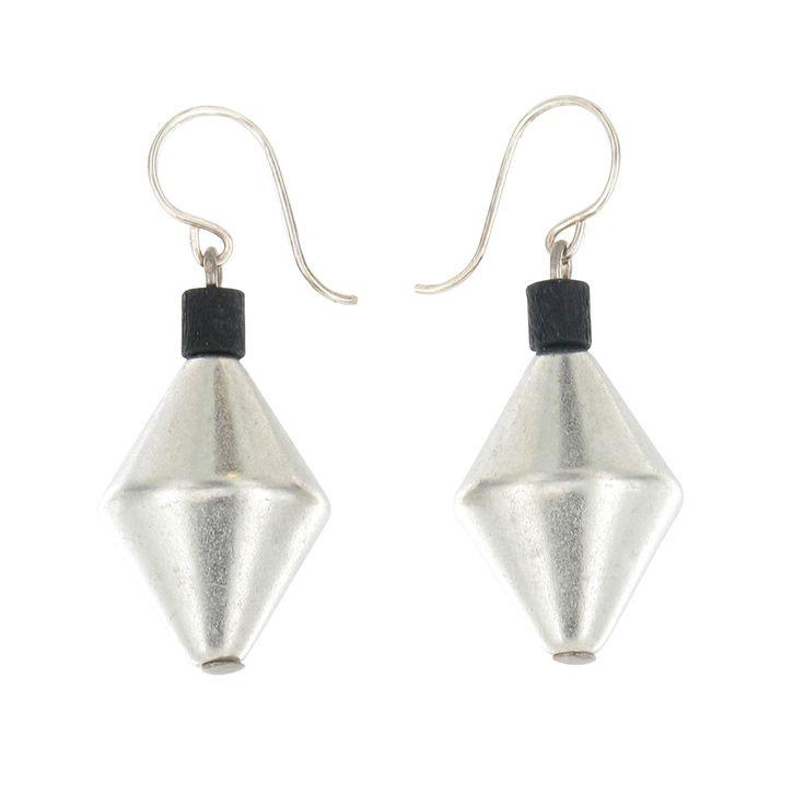 Aarikka - Earrings : Laventeli earrings, black