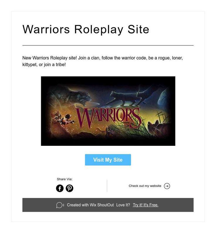 Warriors Roleplay Site