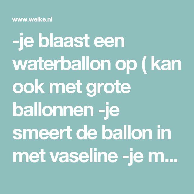 -je blaast een waterballon op ( kan ook met grote ballonnen  -je smeert de ballon in met vaseline   -je maakt een mengsel van witte actionlijm verdund met water, of behangsellijm, creapodge of suikerwater..  -je haalt leuke gekleurde garen door dat lijmmengsel, en wikkelt het draad om de ballon..  - Goed laten drogen , als het echt droog is , prik je de ballon kapot en friemel je de kapotte ballon uit het ei van draad. Foto geplaatst door Maritxx op Welke.nl