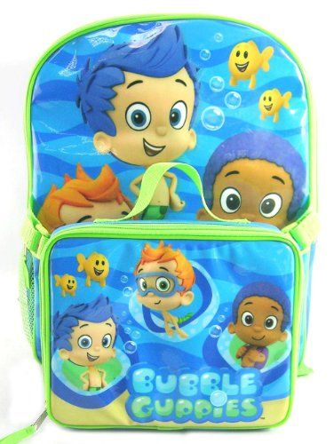 Amazon.com: Bubble Guppies Backpack with Detachable Lunch ...