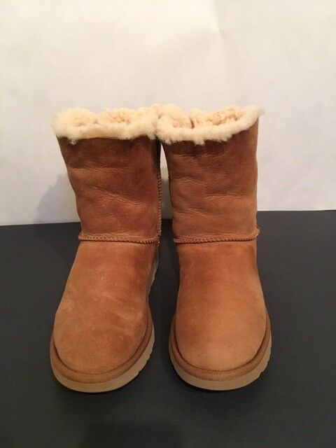 0d3ab83ded8 UGG BOOTS W/BAILEY BOW II STYLE-#1016225 CHESTNUT WOMEN'S SIZE 9 USA ...