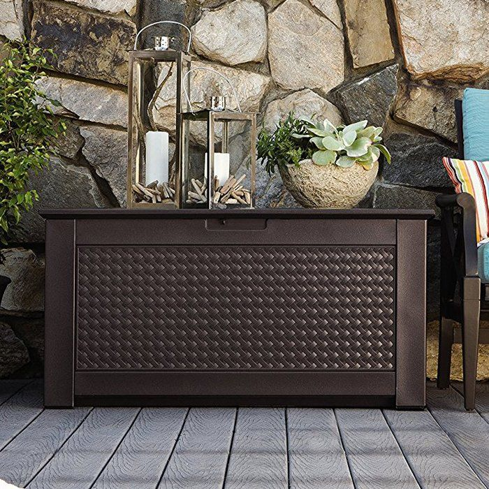 Introducing The New Rubbermaid Patio Chic Plastic Storage Bench