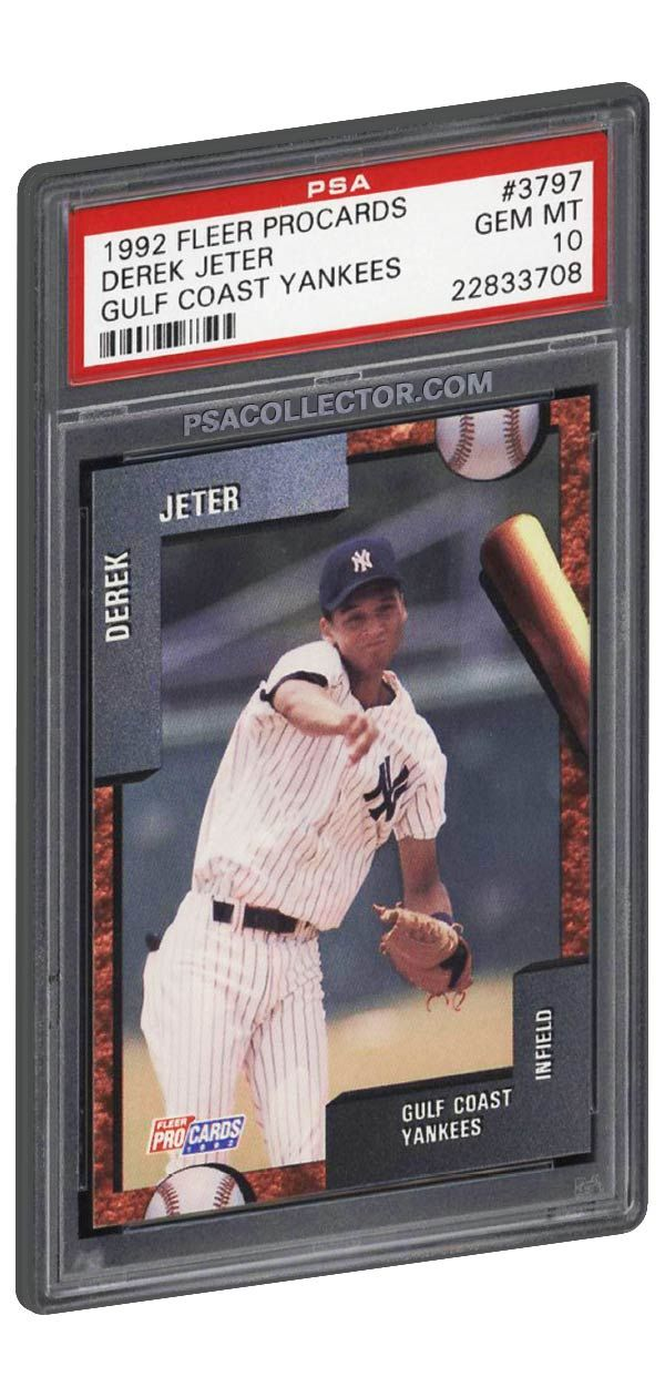 1992 Fleer Procard Derek Jeter Rookie Card Psa 10 Gem Mint Only 24