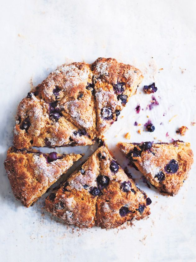 For a fresh and light snack at work, or a tasty treat for the kids after school, try these blueberry and coconut scones.