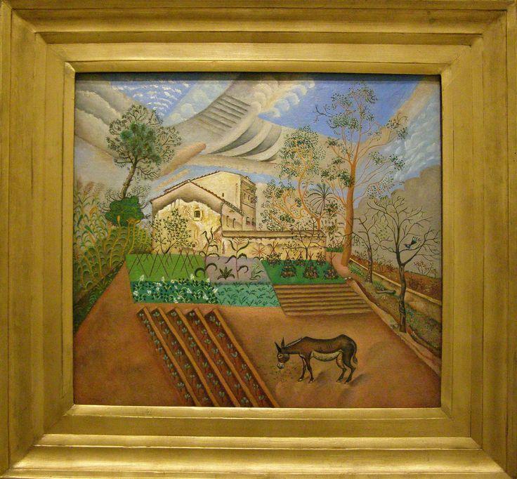 Joan Miró i Ferrà (1893 – 1983) Vegetable Garden and Donkey, 1918, the Moderna Museet, Stockholm