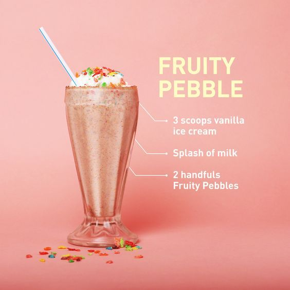 21 best cereal milkshakes images on pinterest milk shakes throw it way back with this rainbow flecked dessert featuring the fave kid cereal get the recipe from delish ccuart Image collections