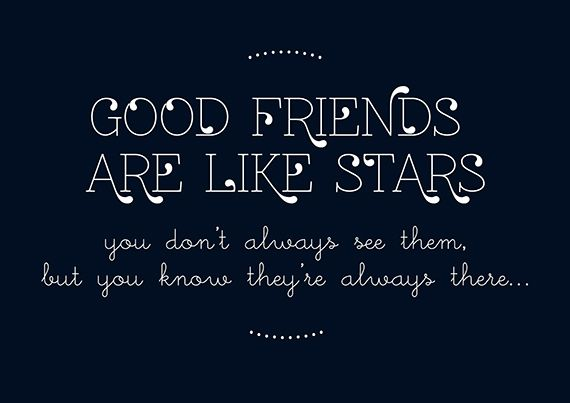 My Daytime Dreams: Good friends are like stars - Free Printable