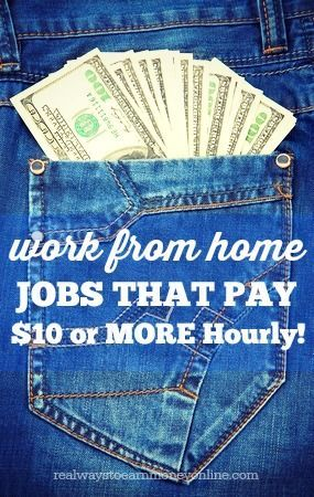 Do you need to make more than $10 an hour working from home? This is a huge list of legitimate companies that hire people to work from home and they all pay $10 or more per hour. #workathome #WAHM WAHM #workathomemom work at home mom