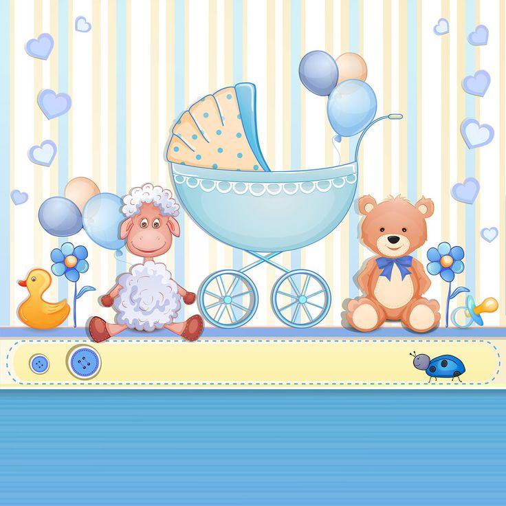 Открытка на рождение сына фотошоп