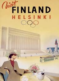 finlandVintage Posters, Olympics Games, Picture-Black Posters, Helsinki Olympics, Games Posters, Finland, Olympic Games, Posters Vintage, Vintage Travel Posters