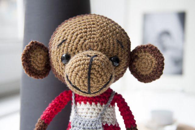 Min hjemmehæklede Abe Anton /crochet